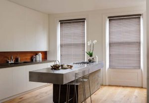 Blinds in a modern kitchen