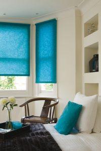 light blue blinds