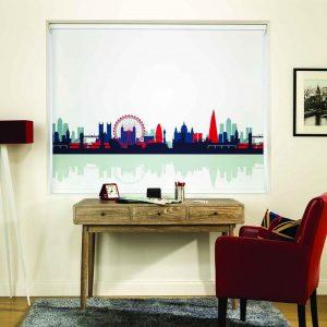 London skyline on blinds