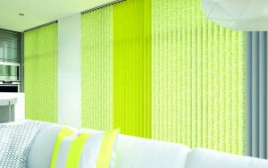 Light green coloured blinds
