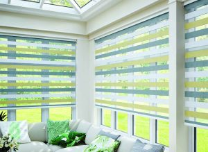 Blinds in a conservatory