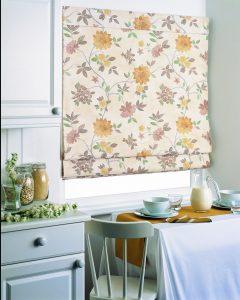 Floral pattern on blinds