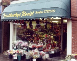 Awnings outside a florist