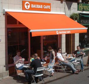 Baobab cafe awning