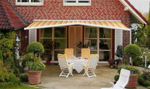 Awnings outside of a garden
