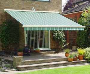 Awning in a garden