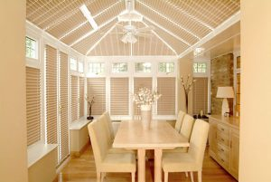intu roof blinds in conservatory