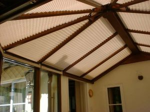 Blinds on a conservatory roof