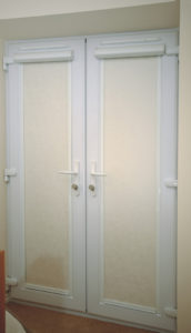French door roller blinds