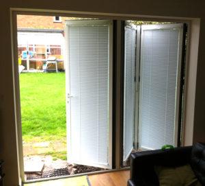 bifold door blinds