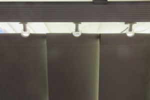 rail fabric light gap crop vertical blinds