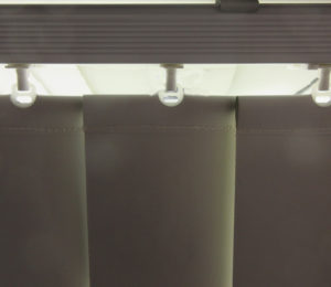 rail fabric light gap crop vertical blinds