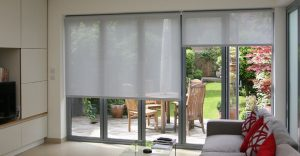 Blinds over french doors