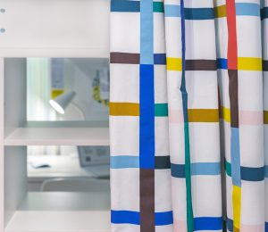 fun, colourful curtains for children's bedroom